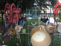 Swing Set Drum Kit by Dave Ford at Calder Plaza